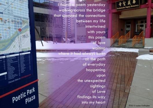 I found a poem copy